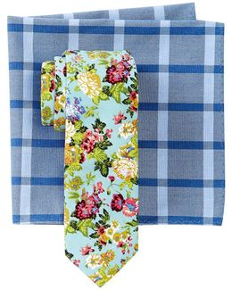 Ashwood Floral Tie & Pocket Square Set