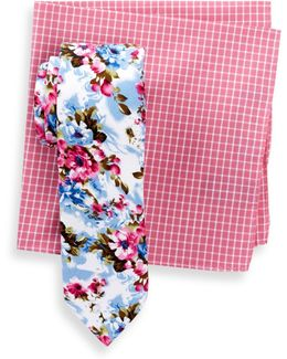 Cove Floral Slim Tie & Pocket Square Set
