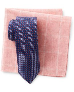 Tompkins Neat Tie & Pocket Square Set