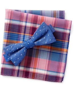 Hammond Dot Bow Tie & Pocket Square Set