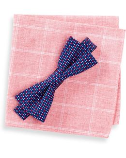 Tompkins Neat Bow Tie & Pocket Square Set