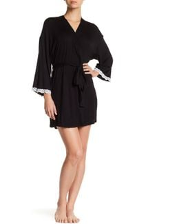 Lace Trim Robe
