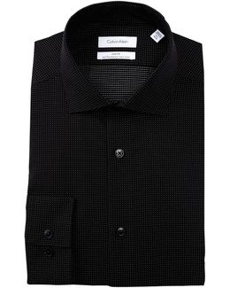 Pin Dot Trim Fit Dress Shirt