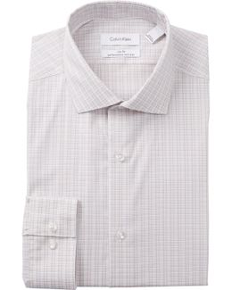 Plaid Print Slim Fit Dress Shirt