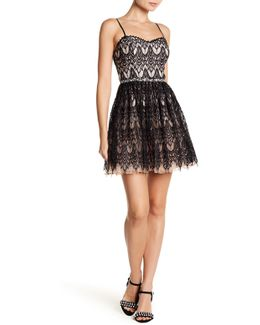 Embellished Lace Party Dress (juniors)