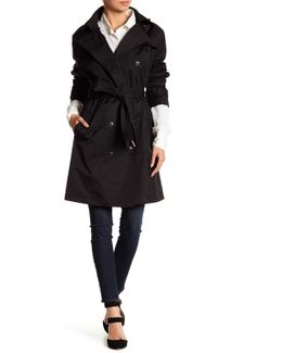 Double Breasted Waist Belt Trench Coat