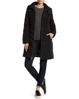 Quilted Front Zip Hooded Jacket