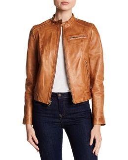 Burnished Leather Jacket