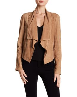 Suede Draped Jacket