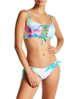 Dreams Petra Lace-up Bikini Top