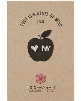 Sterling Silver Love Is A State Of Mind Stud Earrings - New York