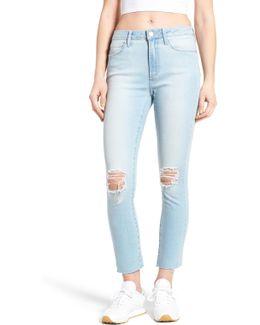 Heather High Waist Crop Jeans (davis)