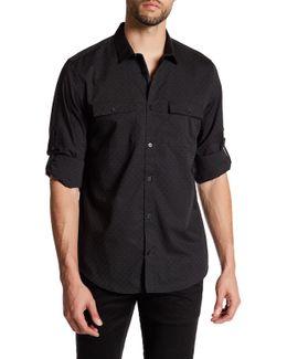 Chambray Stripe Dobby Roll Tab Shirt
