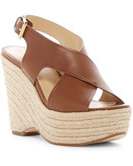 Celia Leather Wedge Sandals