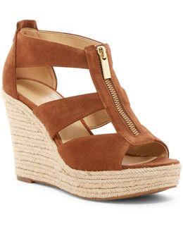 Damita Suede Cutout Wedge Sandal