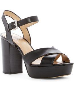 Divia Leather Platform Sandal