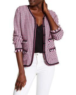 Knitted Fringe Trim Jacket