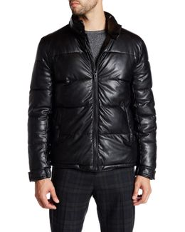 Quilted Faux Leather Hipster Jacket