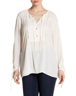 Sancia Woven Long Sleeve Blouse (plus Size)
