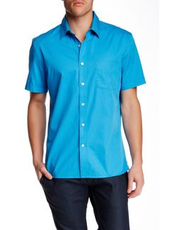 Short Sleeve Regular Fit Dobby Shirt