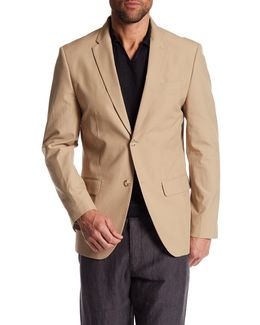 Notch Collar Stretch Slim Fit Blazer
