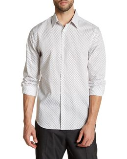 Geo Long Sleeve Stretch Fit Shirt