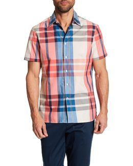 Plaid Short Sleeve Regular Fit Shirt
