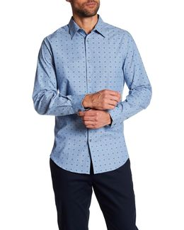 Dot Print Long Sleeve Regular Fit Shirt