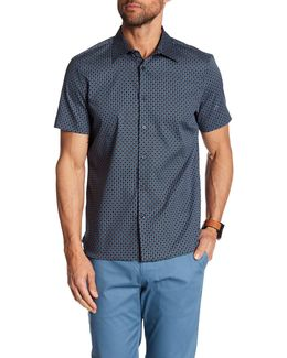 Deco Square Print Short Sleeve Regular Fit Shirt