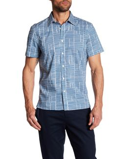 Multi Etched Print Short Sleeve Regular Fit Shirt