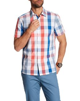 Buff Plaid Short Sleeve Regular Fit Shirt