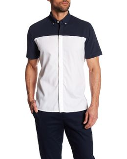 Colorblock Combo Short Sleeve Regular Fit Shirt