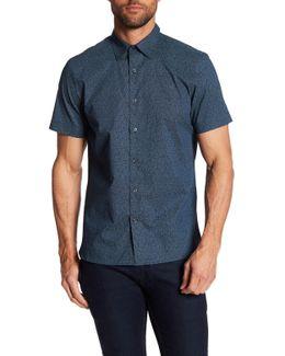 Scribble Print Short Sleeve Regular Fit Shirt