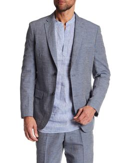 Notch Collar Slim Fit Blazer