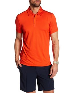 Short Sleeve Hidden Placket Polo