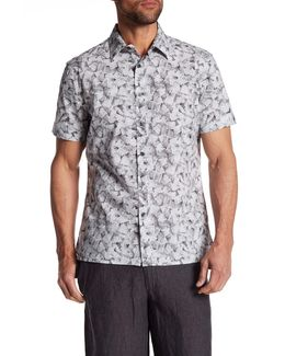 Short Sleeve Stucco Print Regular Fit Shirt