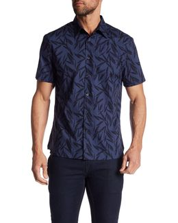 Short Sleeve Leaves Regular Fit Shirt