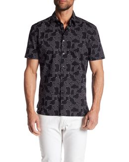 Short Sleeve Dot Print Regular Fit Shirt