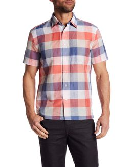 Short Sleeve Plaid Regular Fit Shirt