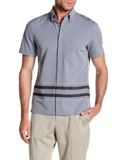 Striped Short Sleeve Slim Fit Shirt