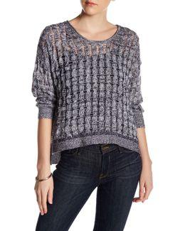 Weekend Linen & Cashmere Blend Pullover Sweater