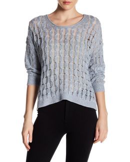 Weekend Linen & Cashmere Blend Pullover Sweater