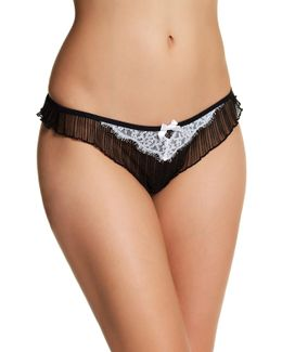 Lacy Pleated Thong