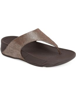 Lulu Shimmer Suede Sandal