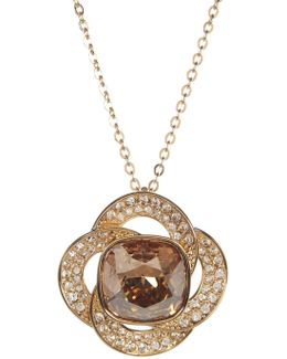Agility Crystal Golden Shadow Pendant Necklace