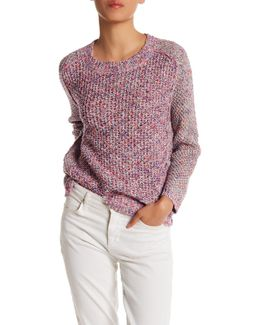 Spring Boucle Crew Neck Sweater
