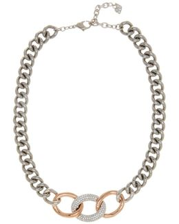 Bound Crystal Detail Chain Necklace
