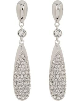 Crystal Accented Downy Earrings
