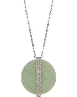 Disk Large Pendant Necklace