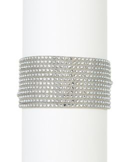 Multi Row Crystal Wrap Bracelet